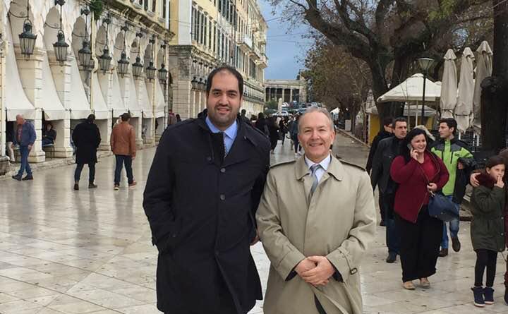 Ο κοινοβουλευτικός εκπρόσωπος της ΝΔ Γιάννης Κεφαλογιάννης στην Κέρκυρα