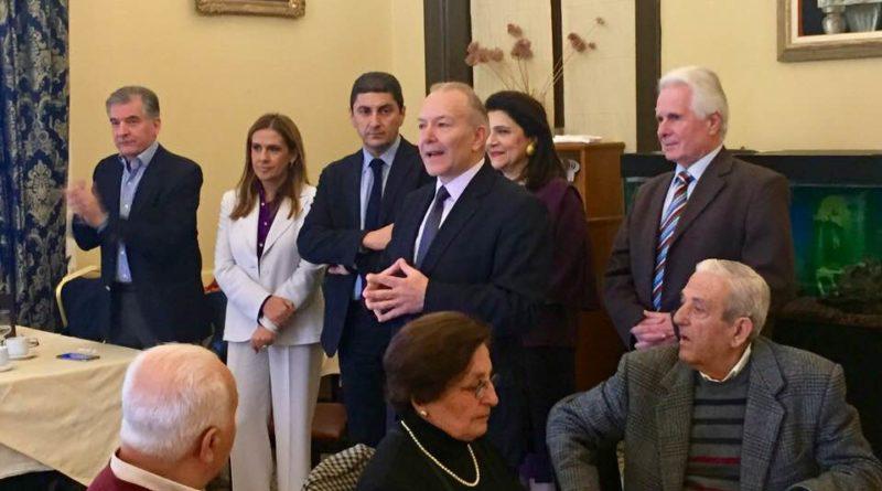 Ο Γραμματέας της ΠΕ της ΝΔ Λευτέρης Αυγενάκης στην Εκδήλωση του Στέφανου Γκίκα για τους Ετεροδημότες των Αθηνών