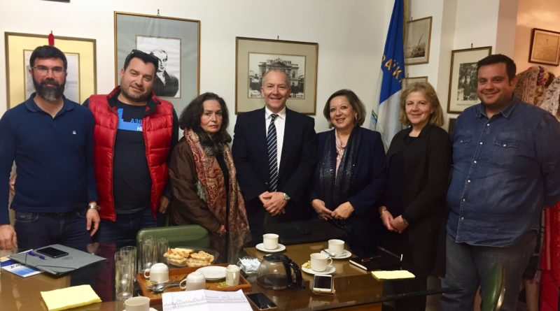 Επίσκεψη Στέφανου Γκίκα στην Κερκυραϊκή Εστία Αθηνών