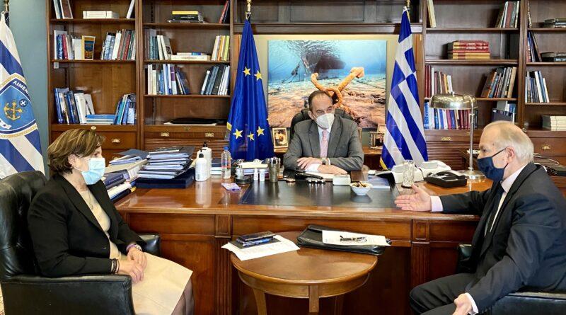 Συνάντηση Στ. Γκίκα με τον Υπουργό Ναυτιλίας και Νησιωτικής Πολιτικής Ι. Πλακιωτάκη