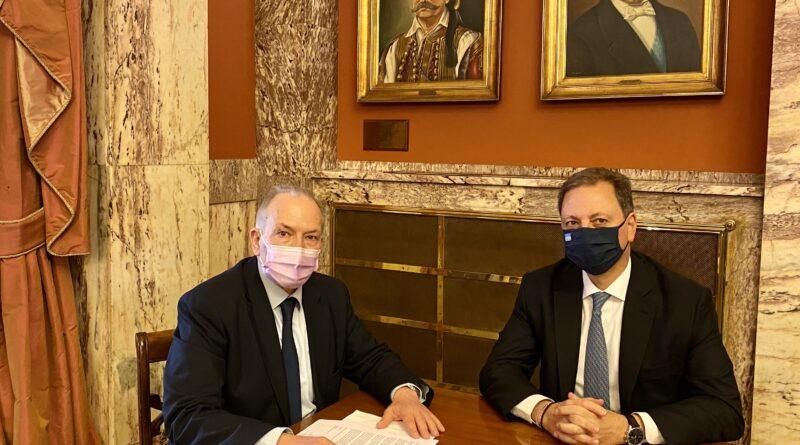 Συνάντηση Στ. Γκίκα με τον Υπουργό Αγροτικής Ανάπτυξης και Τροφίμων, Σπήλιο Λιβανό