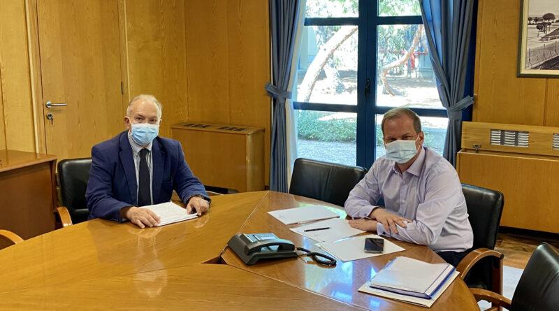 Συνάντηση Στ. Γκίκα με Κ. Καραμανλή: Με ΣΔΙΤ το Έργο Ύδρευσης της Κέρκυρας